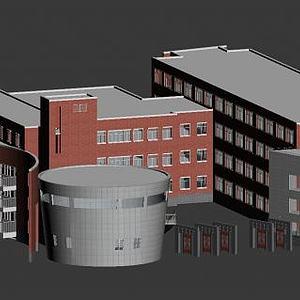 建筑大學模型3d模型