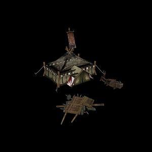 战场兵器架帐篷模型3d模型