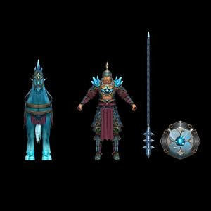 3d游戲人物模型