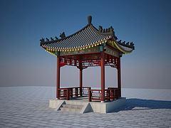 亭子3D模型3d模型