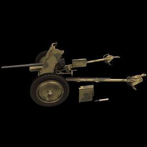 機槍PAK37模型3d模型