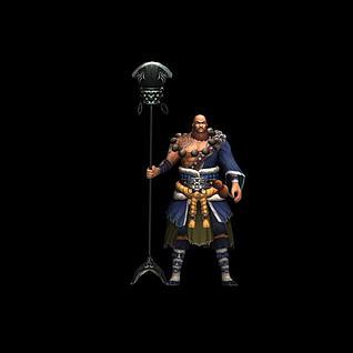 游戏角色鲁智深3d模型