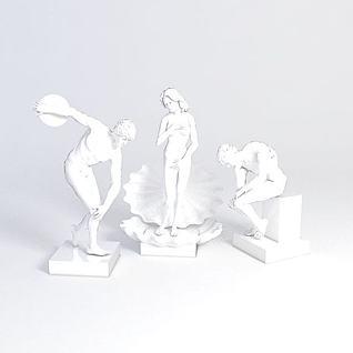 雕塑装饰品3d模型3d模型