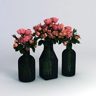 鲜花装饰3d模型