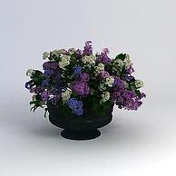 小花坛3D模型3d模型
