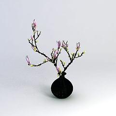 花瓶模型3d模型