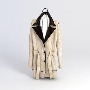 女士时尚大衣模型