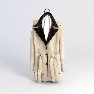 女士时尚大衣3d模型