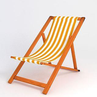 沙滩椅3d模型