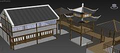 古建亭台楼阁模型3d模型