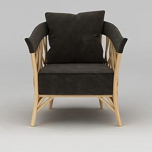 老人閑沙發椅模型