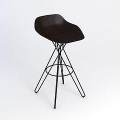 现代简约吧椅模型3d模型