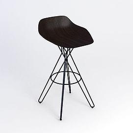现代简约吧椅模型