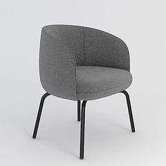 布艺单人沙发椅模型3d模型