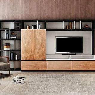 新中式电视柜组合3d模型
