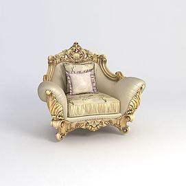 欧式单人沙发3D模型