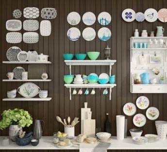 厨房餐具碗碟组合配料柜