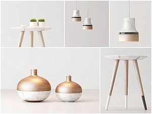 創意茶幾吊燈組合模型3d模型