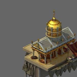 游戲場景房子模型3d模型