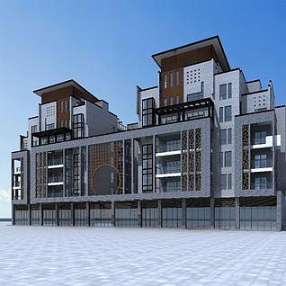 高档住宅楼3d模型