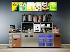 饮品店榨汁机模型