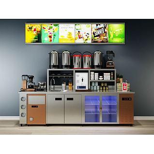 饮品店榨汁机3d模型