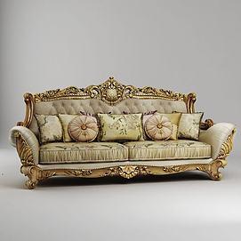 欧式双人沙发模型