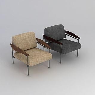 现代简约单人椅3d模型