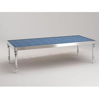 长餐桌3d模型