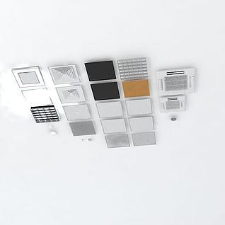 铝合金吸顶灯3d模型