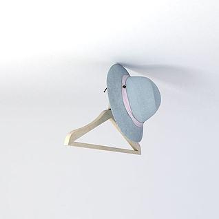 女士夏季帽子3d模型