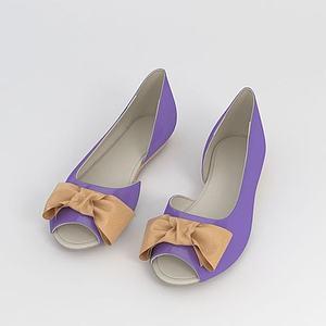 女士夏季鱼嘴鞋模型