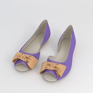 女士夏季鱼嘴鞋3d模型