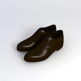 棕色皮鞋3d模型