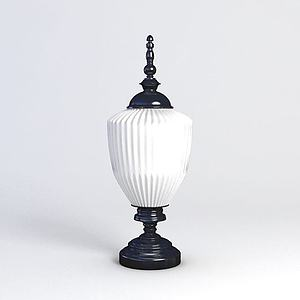 欧式台灯模型