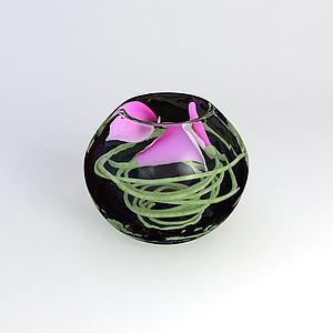 3d玻璃<font class='myIsRed'>花盆</font>花卉模型