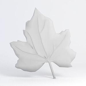 树叶雕花模型