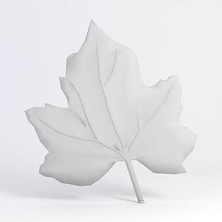 树叶雕花模型3d模型