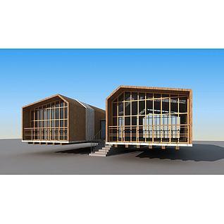 小屋子3d模型