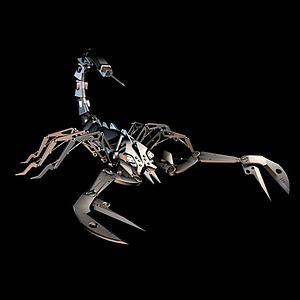 机械蝎子模型3d模型