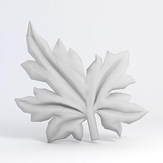 树叶塑模3d模型