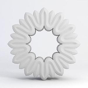 圆形雕花模型