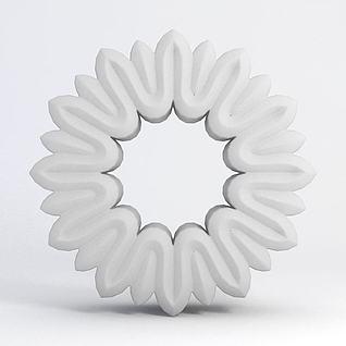 圆形雕花3d模型