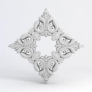 菱形雕花模型