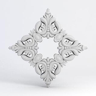 菱形雕花3d模型