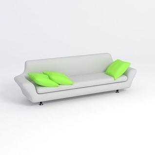 长条沙发3d模型