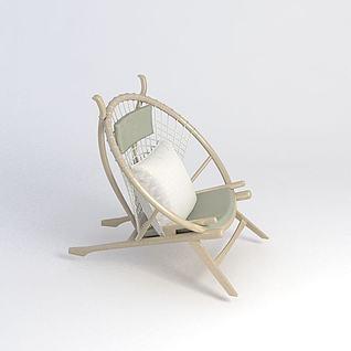 休闲躺椅3d模型