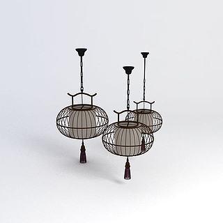 中式风格吊灯3d模型