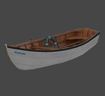 白色小木船