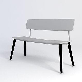 长条椅子3d模型